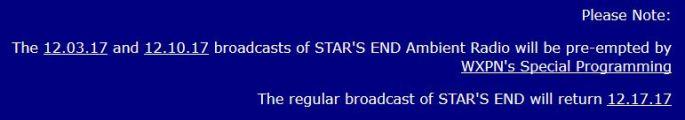 No Stars End